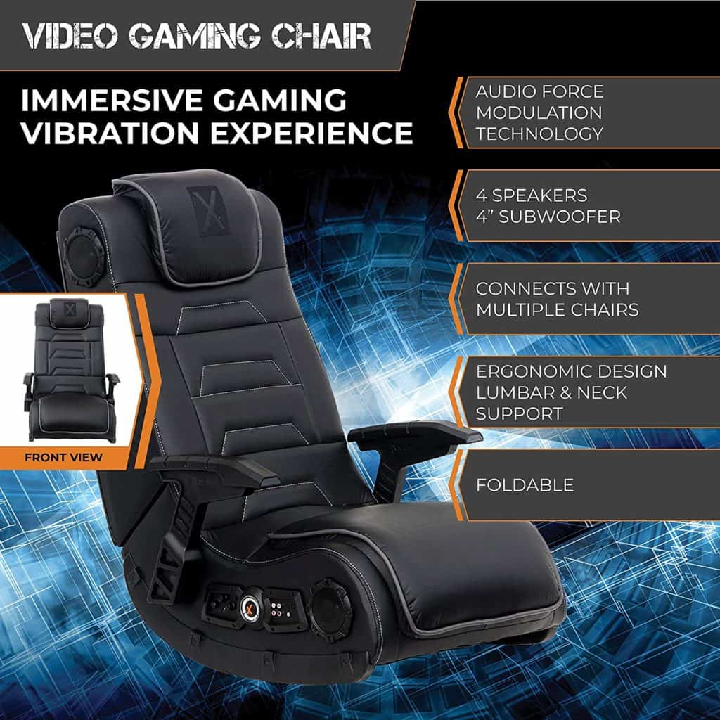 X Rocker 51259 Pro 4.1 Audio Wireless Gaming Chair with speakers