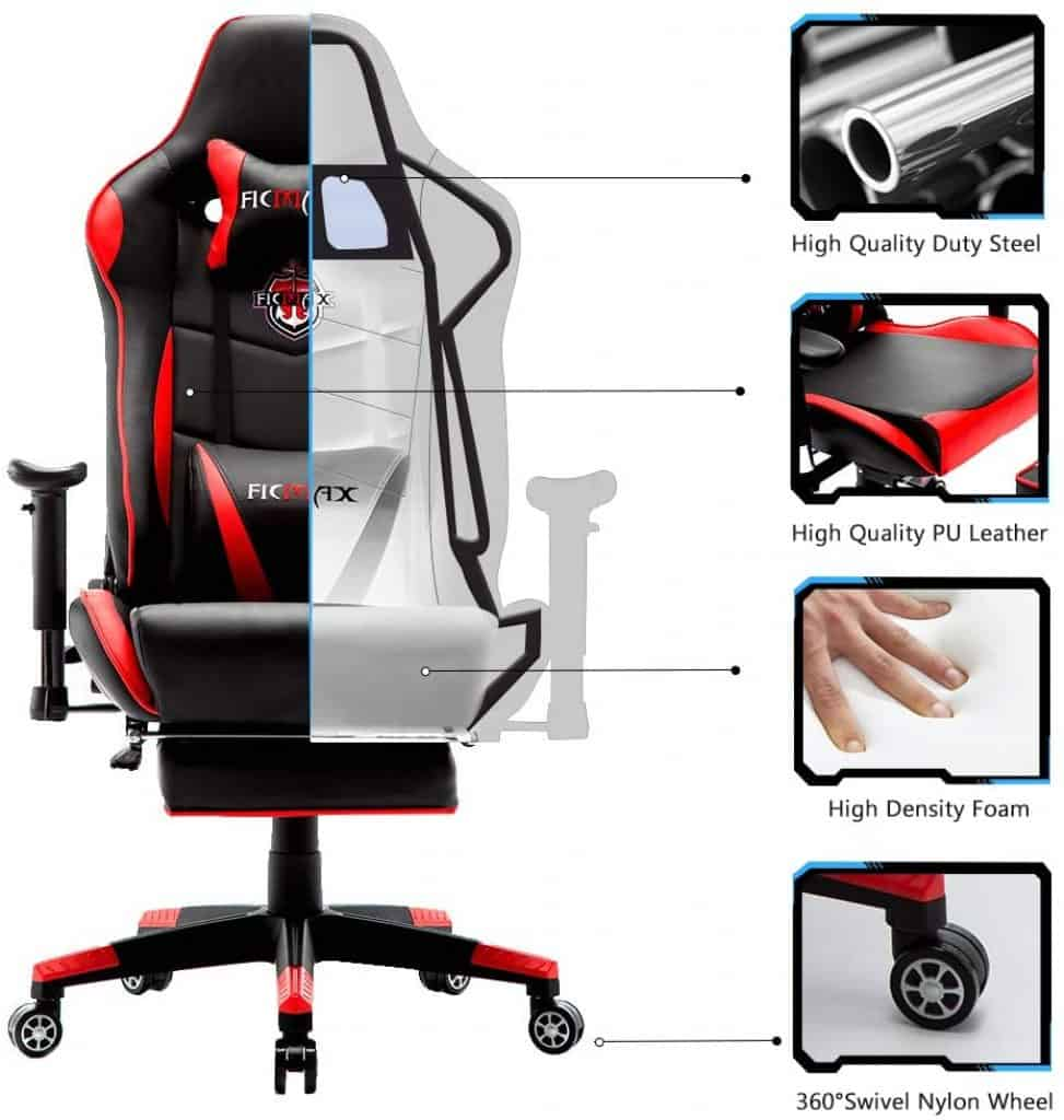 Ficmax Ergonomic gaming chair for ps4