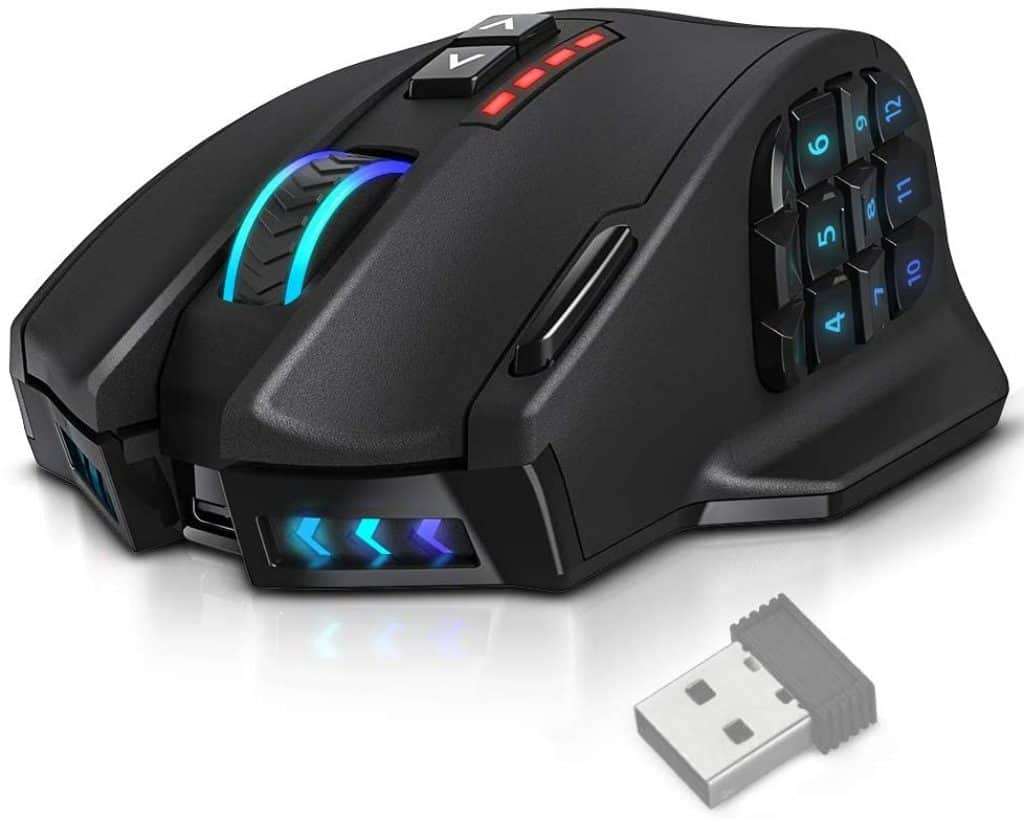 UtechSmart VENUS Pro RGB MMO Wireless Gaming Mouse