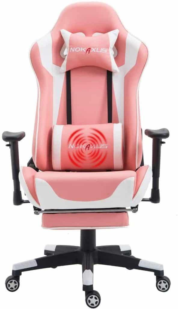 Nokaxus Pink Gaming Chair