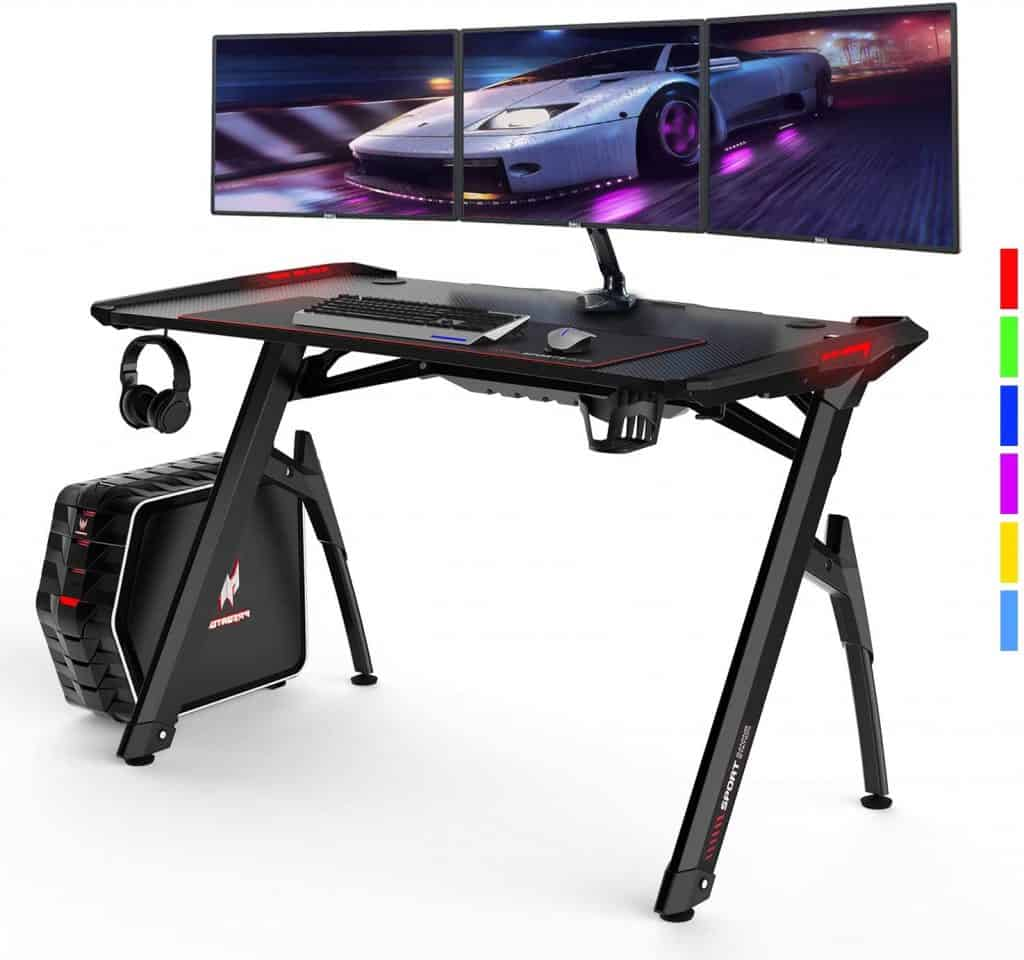 AuAg 47 Inches Gaming Style Desk