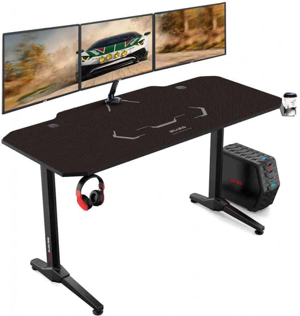 AuAg 55 Inches Racing style Budget Gaming Desk