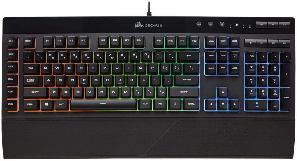 Corsair K55 RGB best budget gaming keyboard