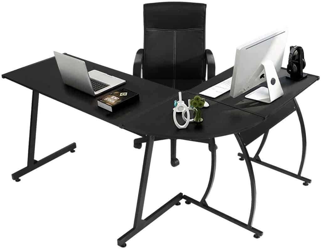 GreenForest L Shaped Gaming Desk
