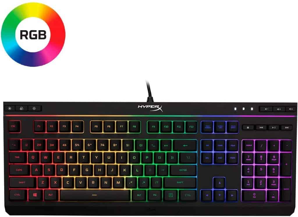 HyperX Alloy HX-KB5ME2-US Core RGB Membrane Gaming Keyboard