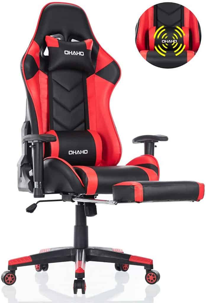 OHAHO Gaming Chair Racing Style Office Chair Adjustable Massage