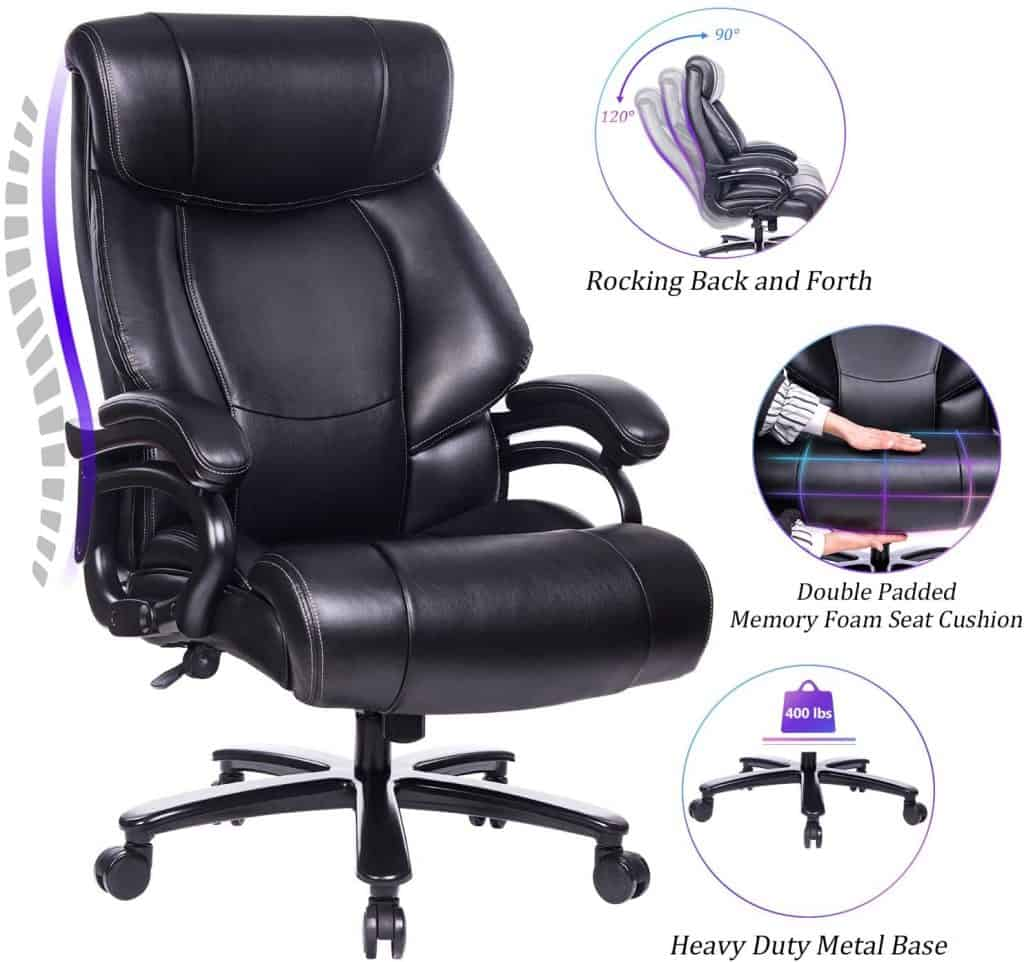 REFICCER – Big & Tall High Back Executive Office Chair