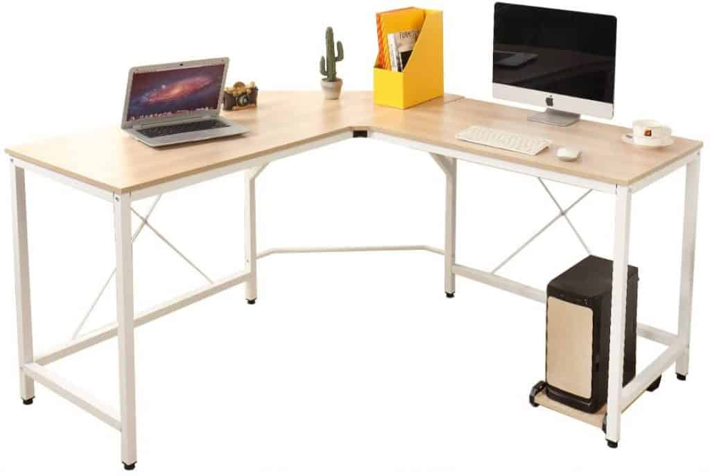 Soges 59 x 59 inches Large L-Shaped Gaming Desk