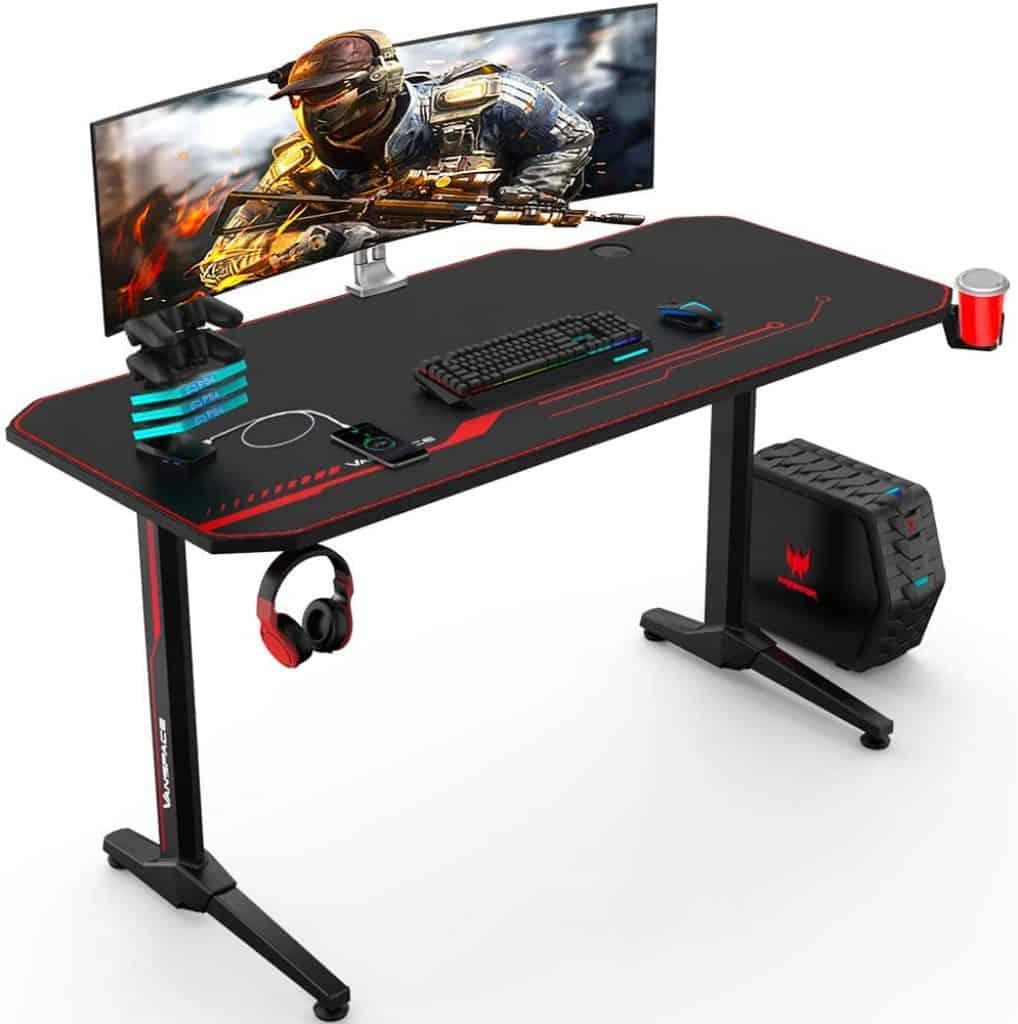 VANSPACE-55-Inches-Ergonomic-Gaming-Desk