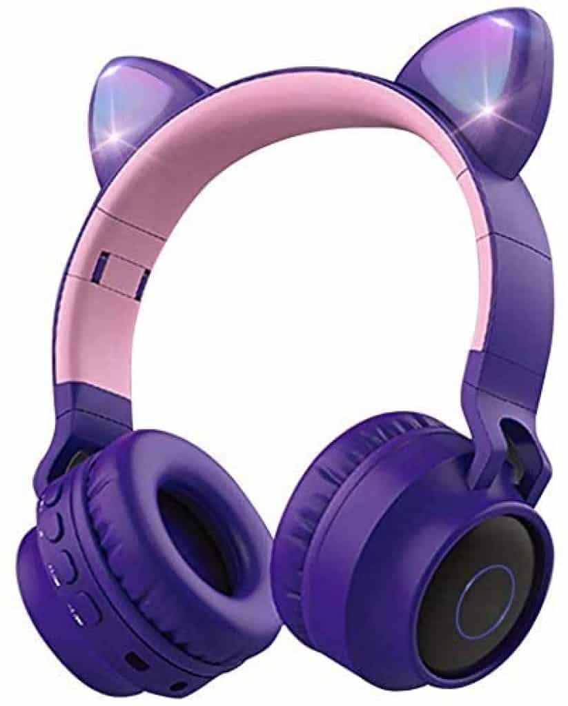 Aresrora Cat Ears Bluetooth Over Ear Headphones