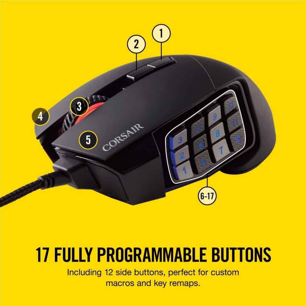 Corsair Scimitar Pro RGB - MMO Gaming Mouse