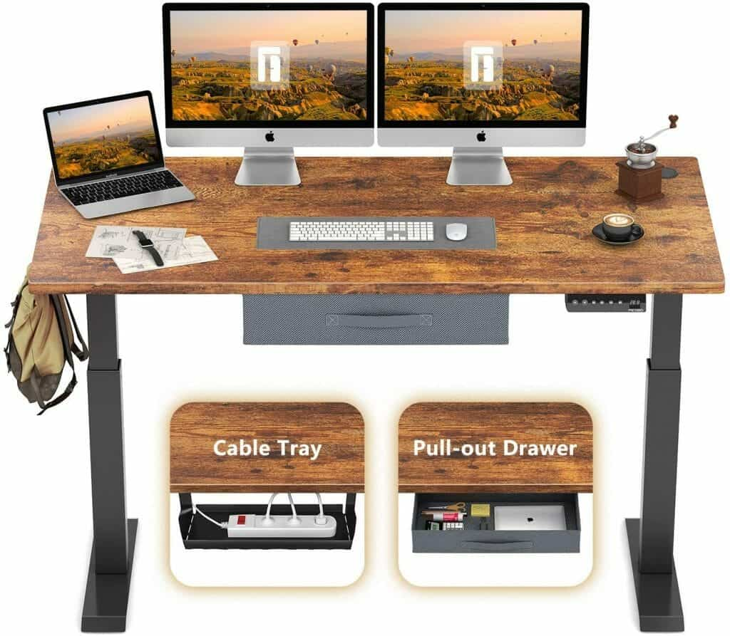 FEZIBO Height Adjustable Electric Standing Desk