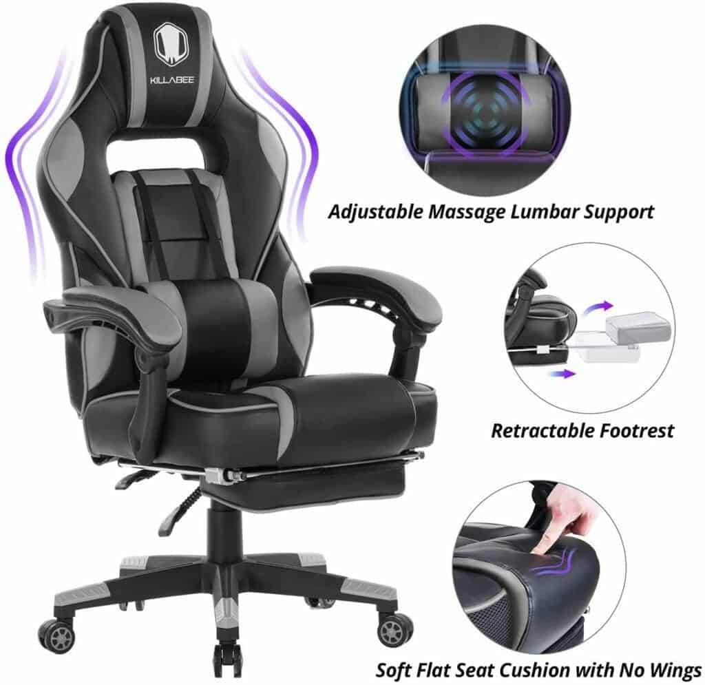 KILLABEE Massage Gaming Chair High Back