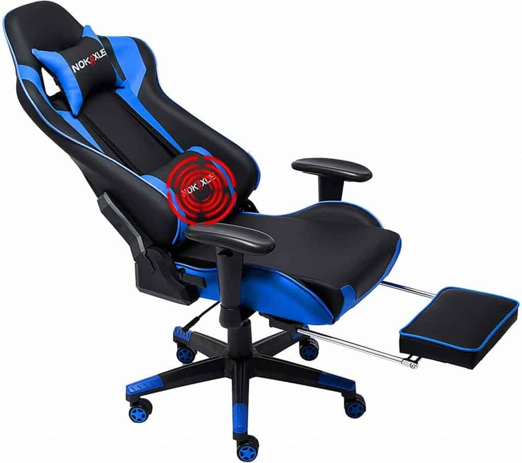 Nokaxus Gaming Chair with Footrest