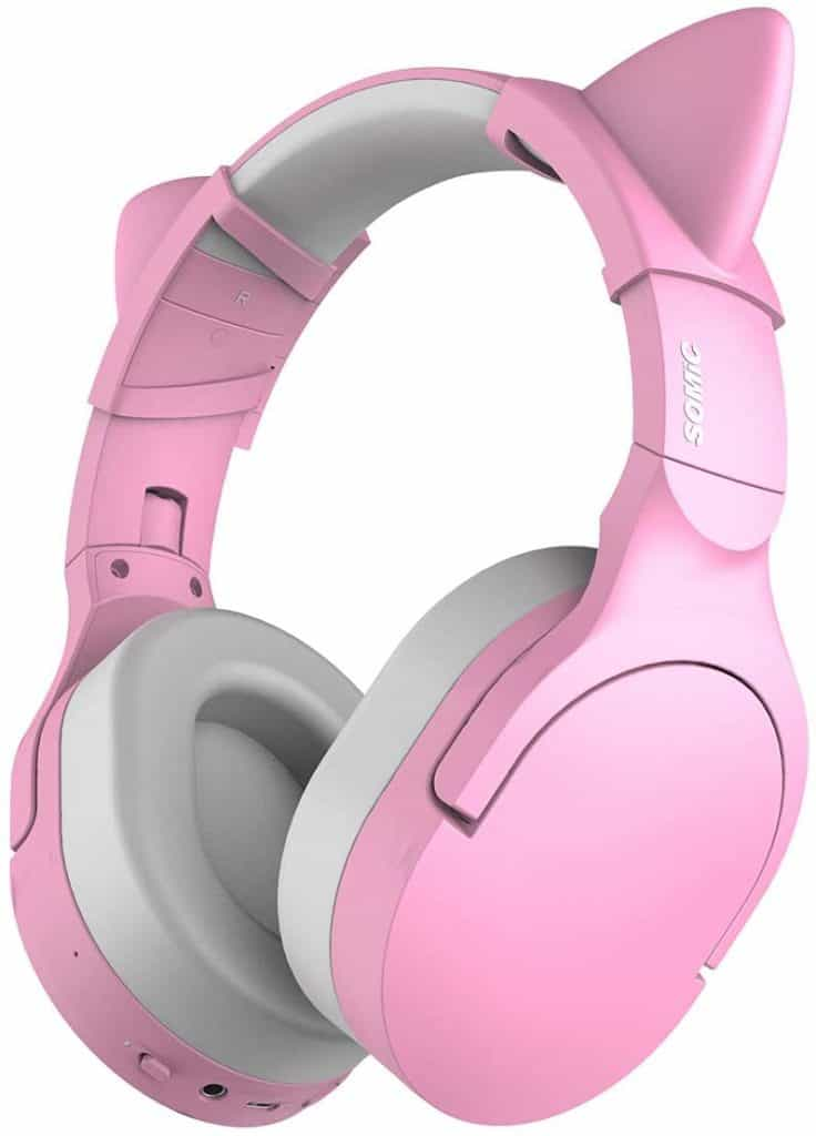 SOMIC SC2000 Pink Bluetooth Wireless Headphones