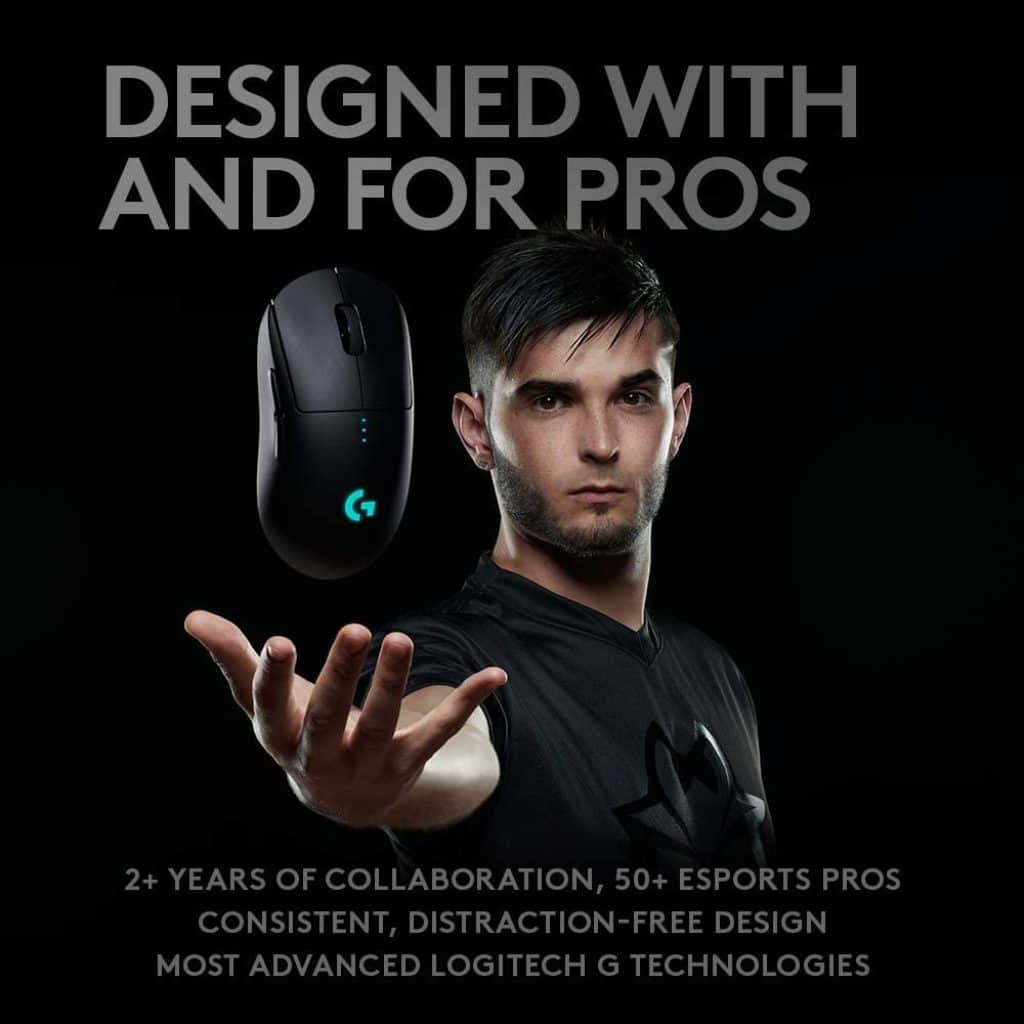 Logitech G Pro Wireless Gaming Mouse – 80g
