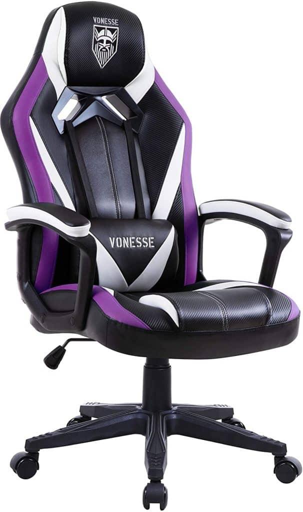 Vonesse Purple Massage Gaming Chair