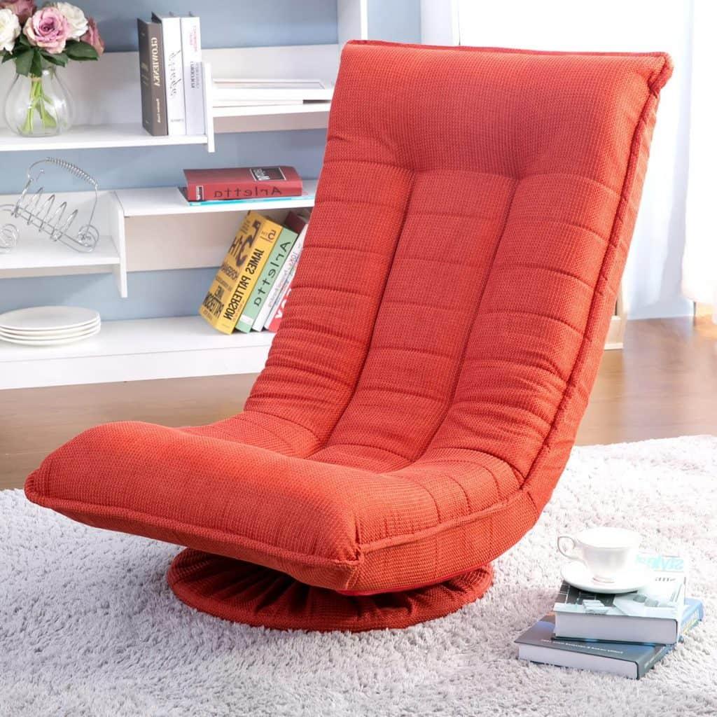 Merax Sleeper Floor Chair Swivel Video Rocker Gaming Chair