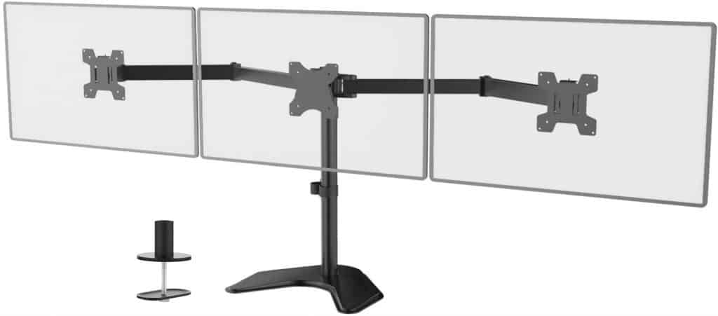 WALI Free-Standing Triple LCD Monitor