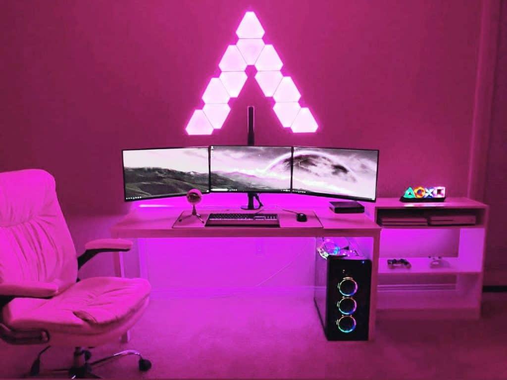 Pink Gaming Setup