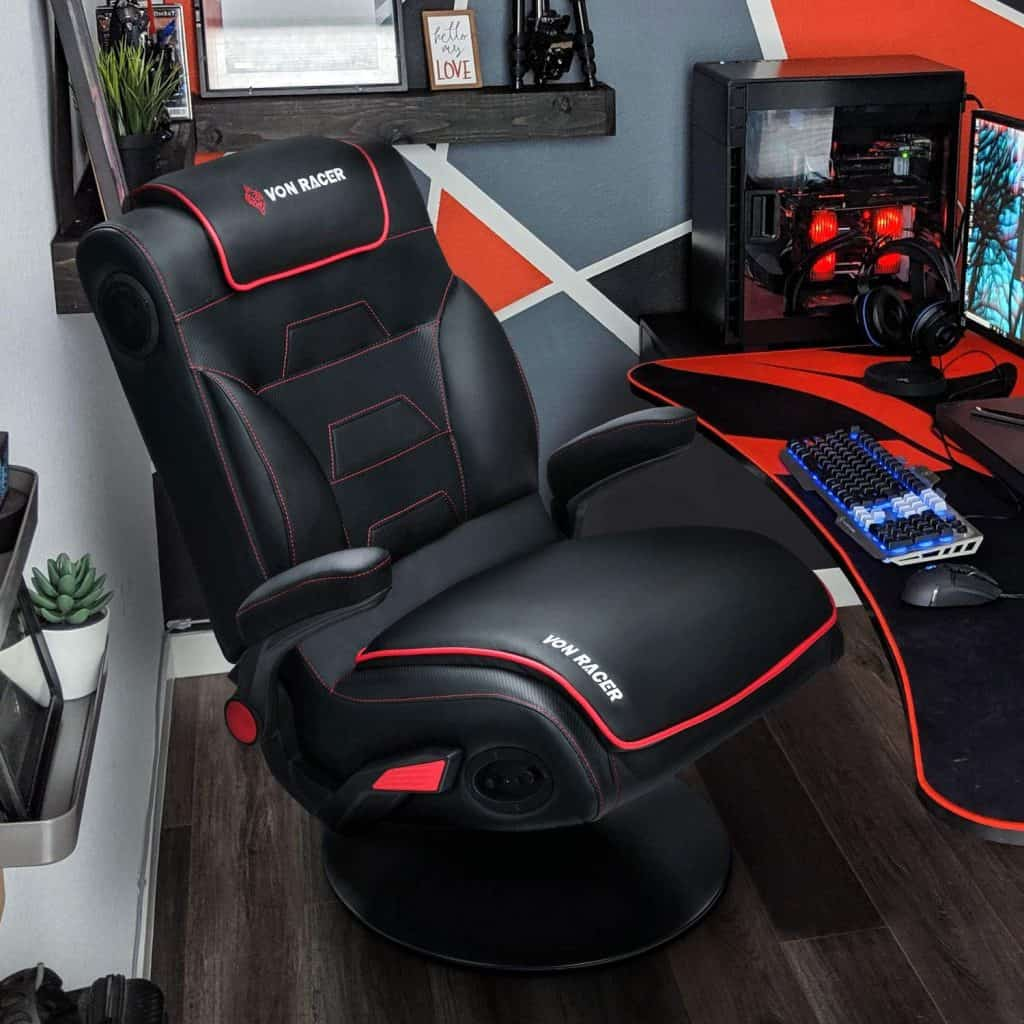 VON Racer Rocking Gaming Chair with speakers