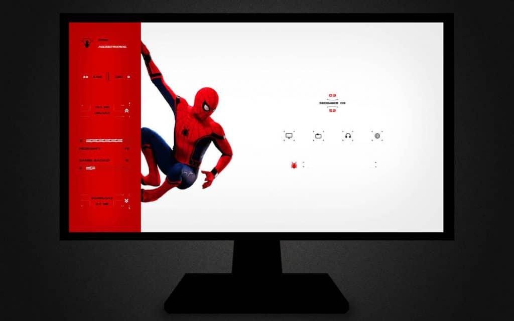 Spiderman Rainmeter Skin
