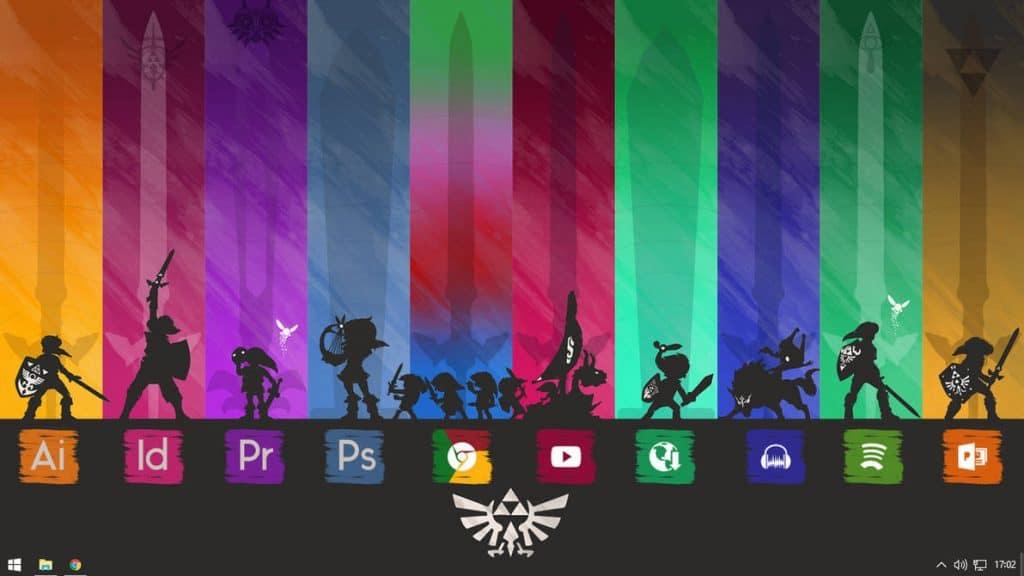 Zelda Rainmeter theme