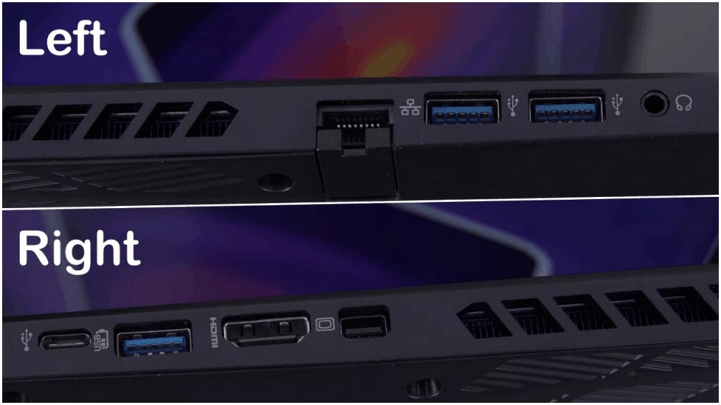 Acer Predator Helios 300 Ports