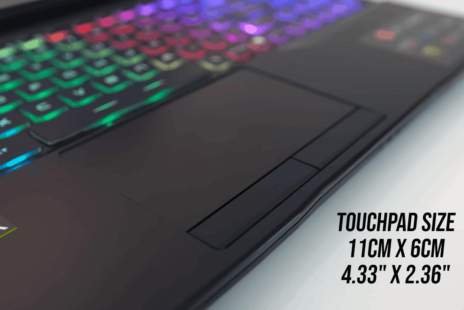 MSI GL65 2020 touchpad