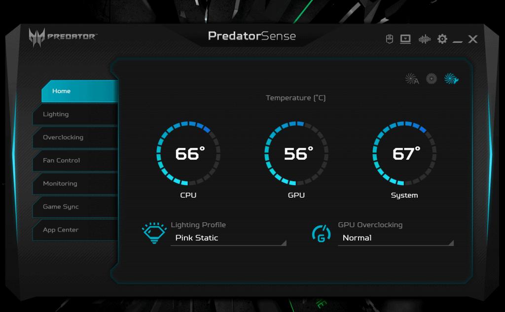 PredatorSense Home